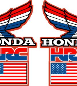 1989 HONDA CR500 CR 500 EVO TANK WINGS STICKERS DECALS