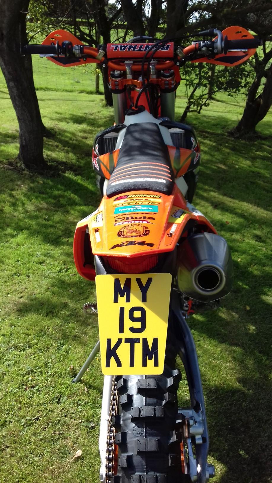 Larger Tapered Enduro Motorcycle Flexi Reg Number Plate Ktm Exc Mbx Graffix